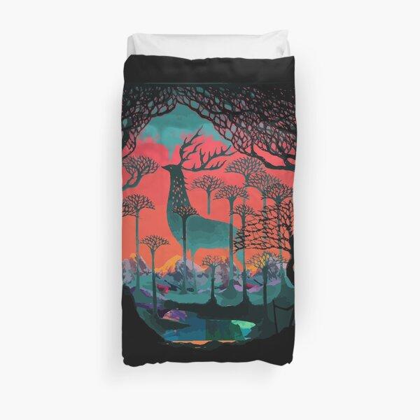 Esprit de la forêt - Illustration des terres boisées Housse de couette