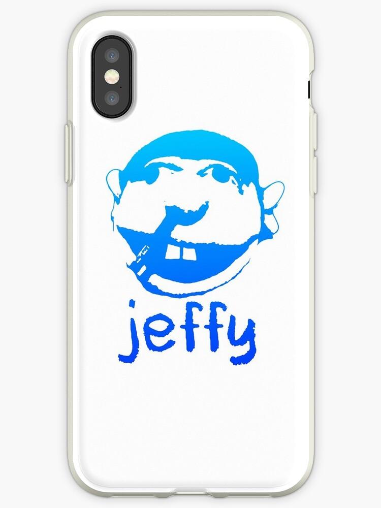 'jeffy blue' iPhone Case by POM MER