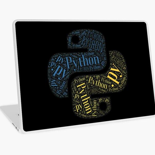 Python Programmer Logo Typography  Laptop Skin