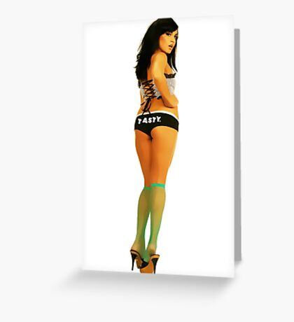 Tasty® Brand Lingerie Pinup Girl Greeting Card