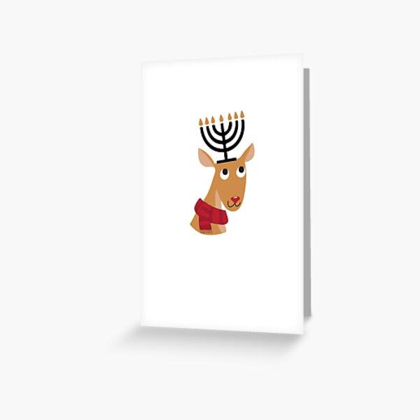 Rentier Hanukkah Grußkarte