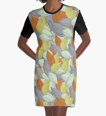 Background of a variety of leaves Graphic T-Shirt Dress
