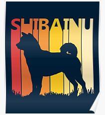 Vintage Retro Shiba Inu Christmas Gift Poster