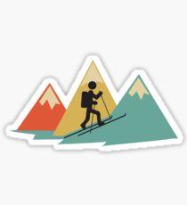 Skitour Berge Vintage Retro Symbol Geschenk cool Sticker