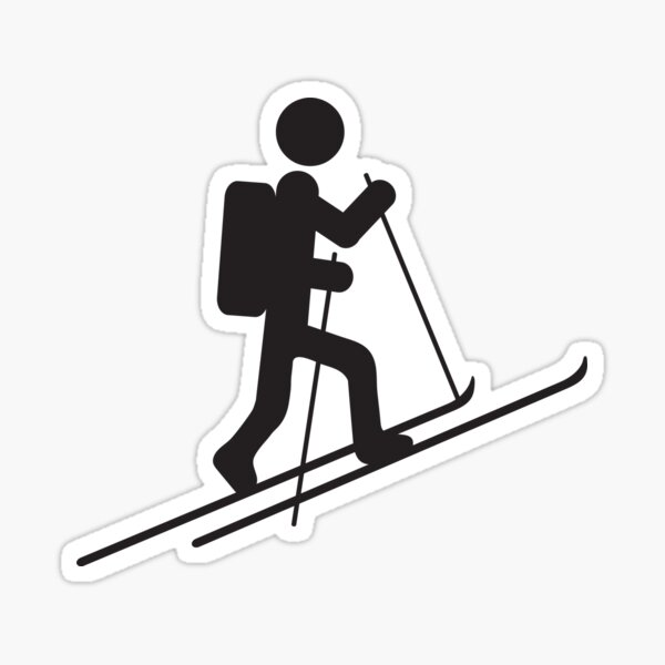 Skitour Symbol Sticker