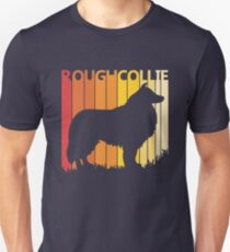 Vintage Retro Rough Collie Christmas Gift Unisex T-Shirt