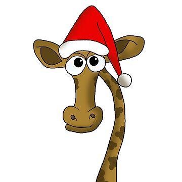 Christmas giraffe by ValentinaHramov