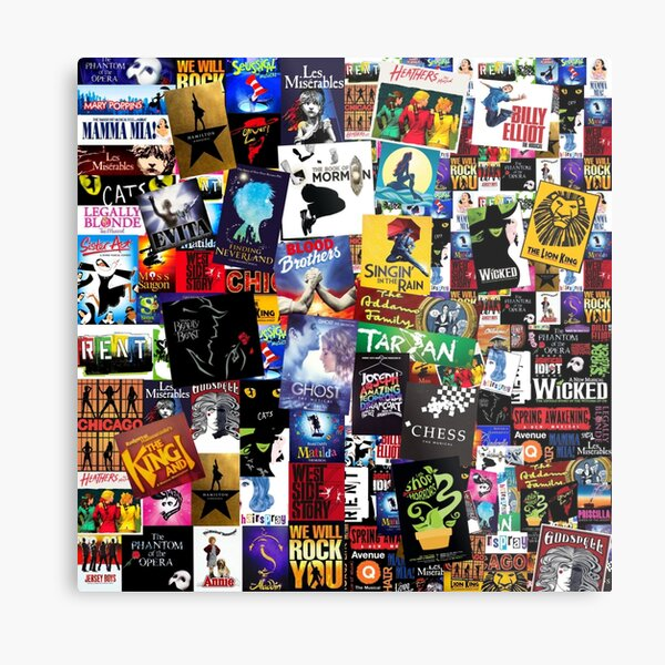 Musicals Collage IV  Metal Print