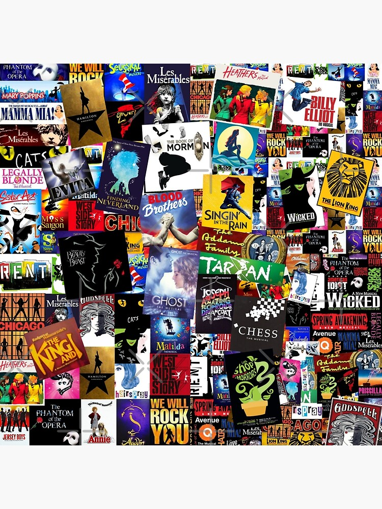 Musicales De Broadway Collage