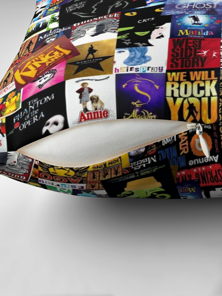 Alternate view of Musicals Collage IV  Throw Pillow