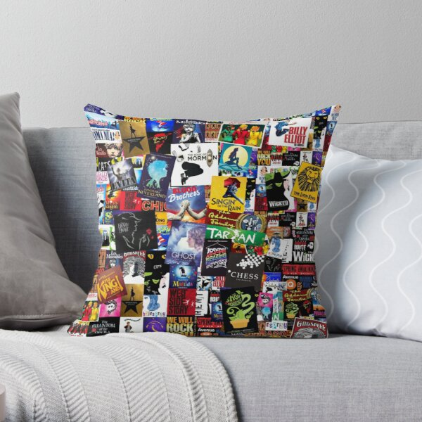 Musicals Collage IV  Throw Pillow