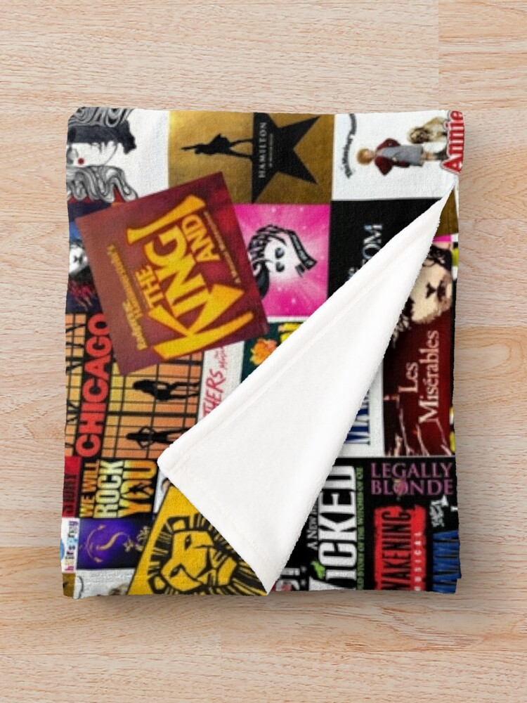 Alternate view of Musicals Collage IV  Throw Blanket