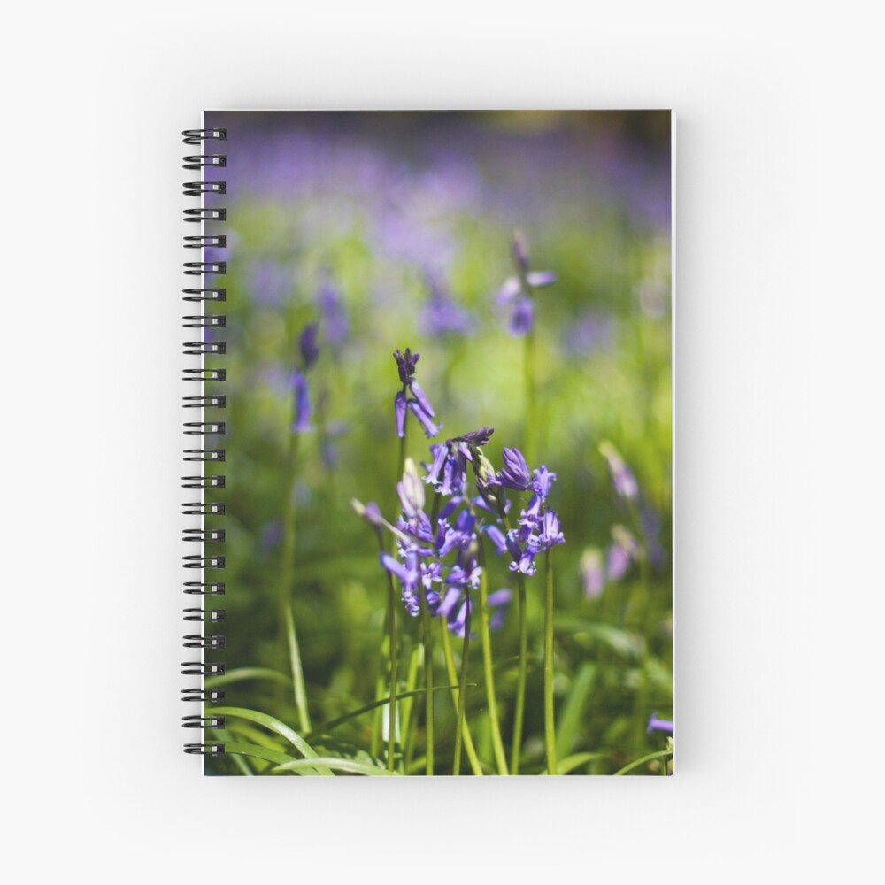 Bluebells (Hyacinthoides non-scripta) Spiral Notebook