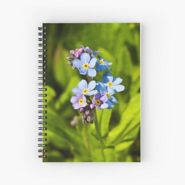 Forget-me-not Flowers (Myosotis arvensis) Spiral Notebook