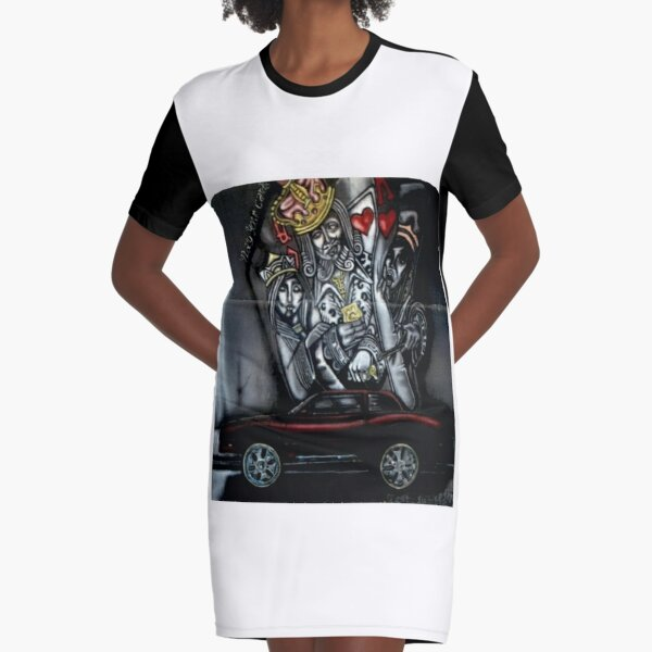 Cars n Cards Graphic T-Shirt Dress