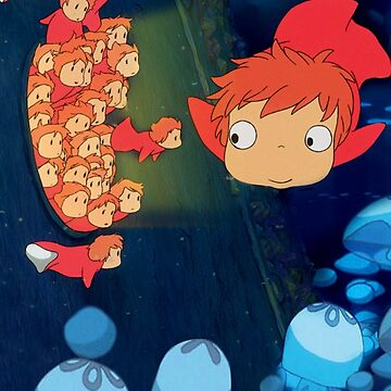 Ponyo under water by MrTartBottom