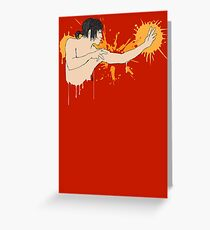 Street art fighter Greeting Card