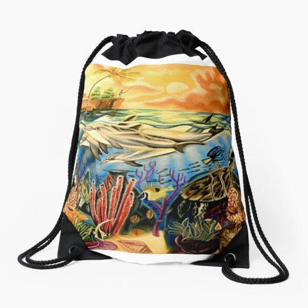 Day at Sea Drawstring Bag