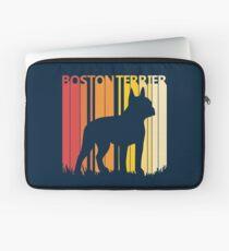 Vintage Retro Boston Terrier Christmas Gift Laptop Sleeve