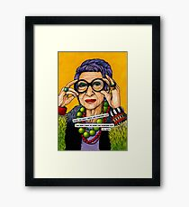 Iris Apfel Framed Print