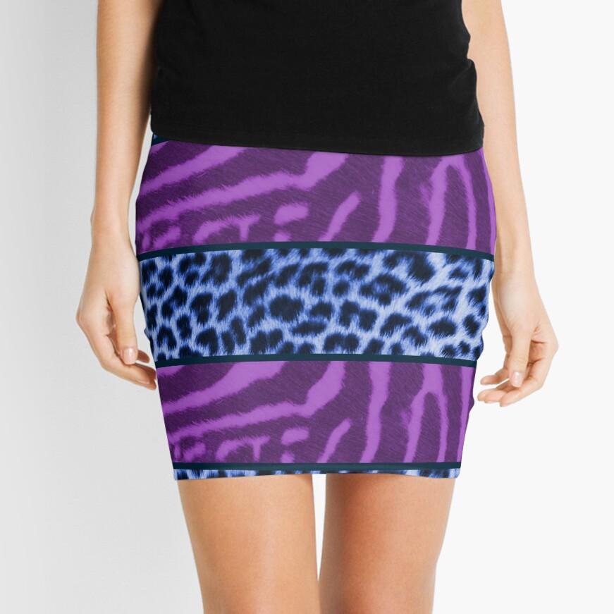 Bohemian animal print Mini Skirt