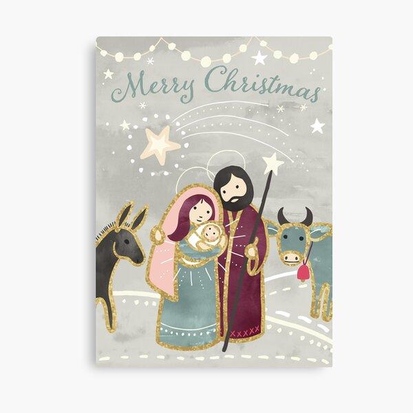 Nativity - the Birth of Jesus  Canvas Print