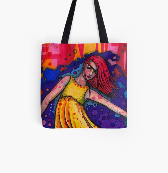 Isadora Duncan All Over Print Tote Bag