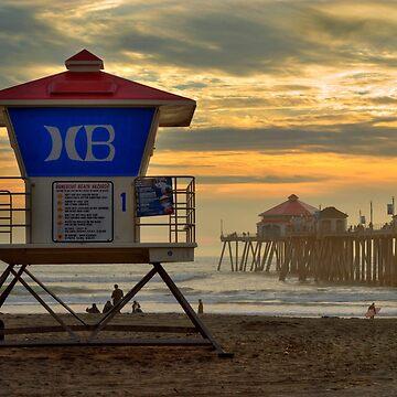Huntington Beach Lifeguard Tower by DianaG