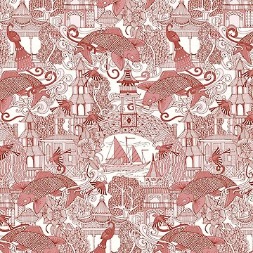 chinoiserie toile red by scrummy
