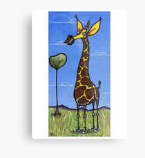 Giraffe, Serengeti Plain Metal Print
