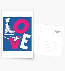 Cool I Love Figure Ice Skating Boys And Girls Gift Design Postcards