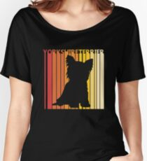 Vintage Retro Yorkshire Terrier Christmas Gift Women's Relaxed Fit T-Shirt