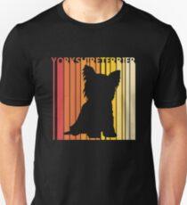 Vintage Retro Yorkshire Terrier Christmas Gift Unisex T-Shirt