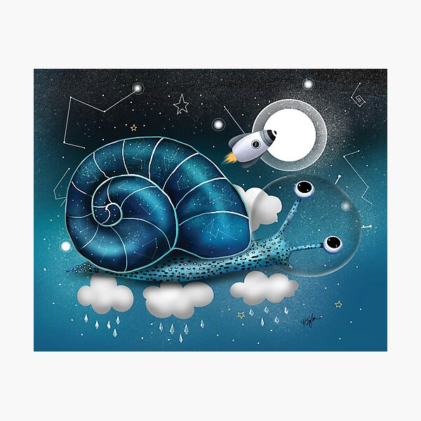 Space Snail Photographic Print