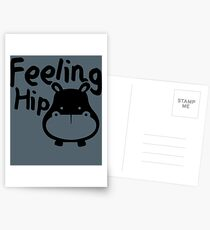 Feeling Hip Hippopotamus Designs | Funny Hippo Kid Gifts Postcards