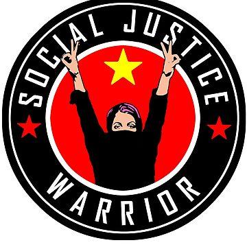 SOCIAL JUSTICE WARRIOR - BADGE by Calgacus