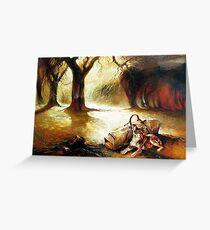 Waiting Faithful - Waltzing Matilda Series  Greeting Card