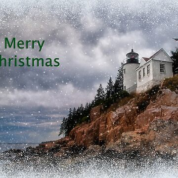 Bass Harbor Christmas Card by kdxweaver