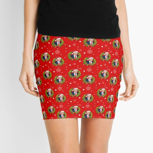 Christmas Trump Make Christmas Great Again Funny Christmas card gifts HD HIGH QUALITY ONLINE STORE Mini Skirt