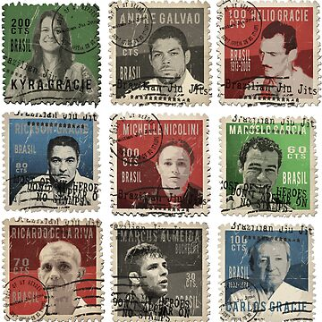 Gracie BJJ Brazilian Jiu Jitsu Hero stamps by ocansey