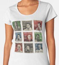 Gracie BJJ Brazilian Jiu Jitsu Hero stamps Women's Premium T-Shirt