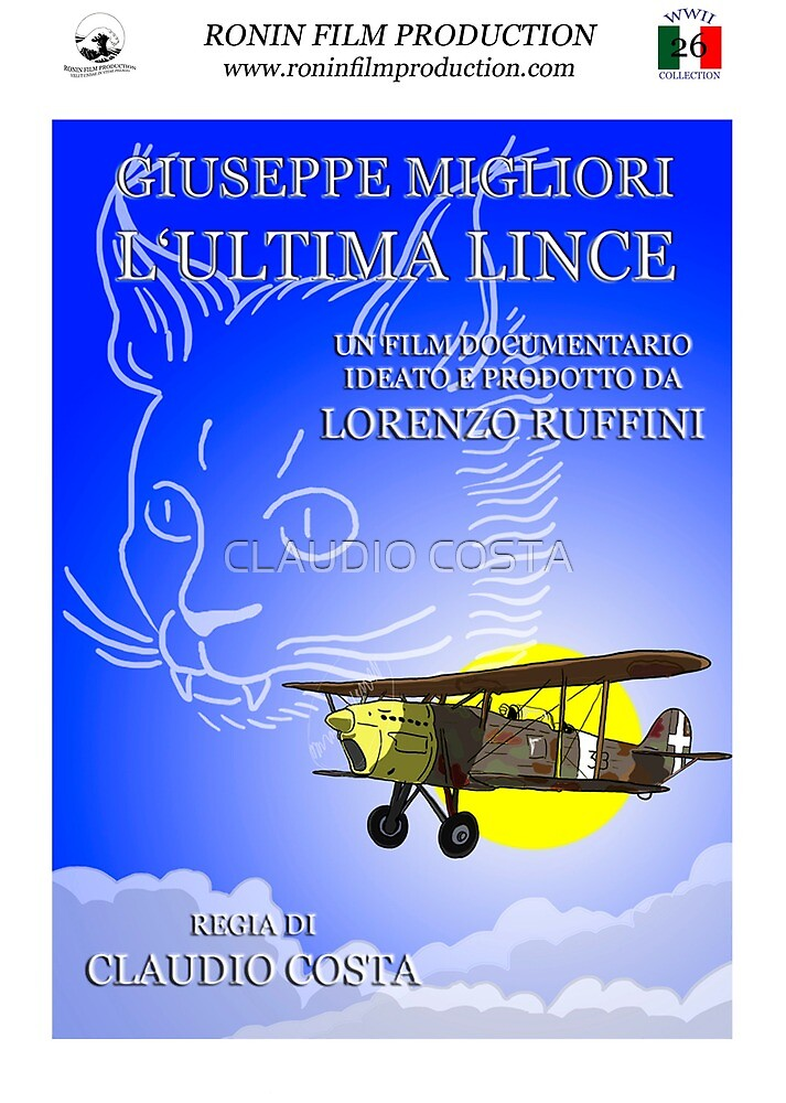 Giuseppe Migliori - L'ultima Lince - Official poster by CLAUDIO COSTA