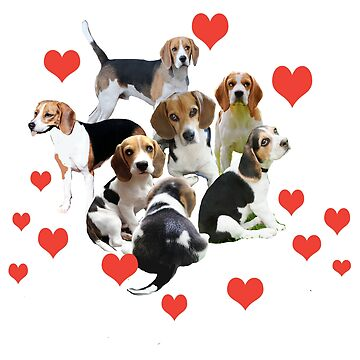 Beagles and Hearts by IowaArtist