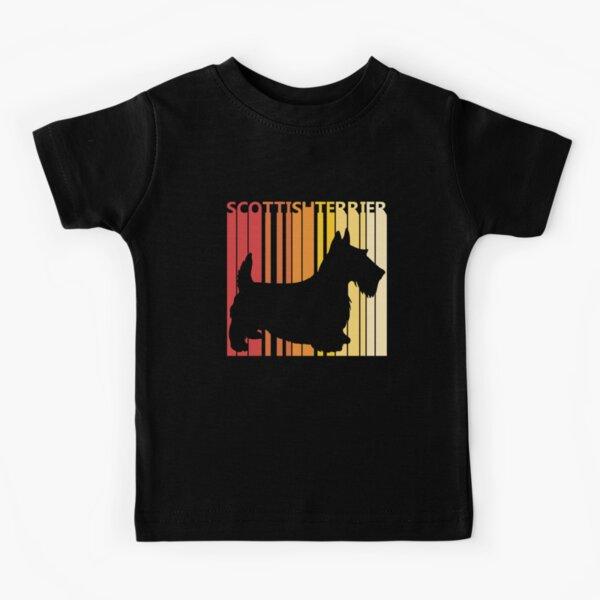 Vintage Retro Scottish Terrier Christmas Gift Kids T-Shirt