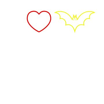 Original i love bats T-Shirt by SamDesigner