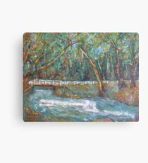 A Bridge over untroubled waters by Peter the Red Canvas Print