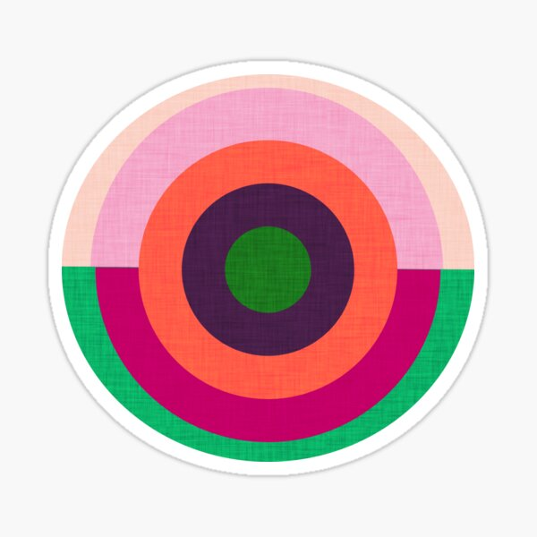 Solaris Pink  #homedecor #midcenturymodern #midcentury Sticker