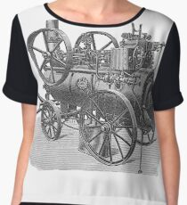 Ancient steam machine #steampunk #steampunkstyle #steampunkfashion #steampunkclothing #Cyberpunk #Dieselpunk #Fantasy #ScienceFiction #Ancientsteammachine #Ancient #steam #machine #steammachine Chiffon Top
