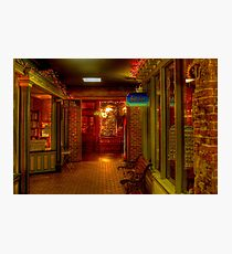 Old Fashioned Christmas Shopping  Photographic Print