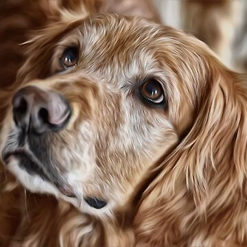 Golden Retriever Portrait by IowaArtist